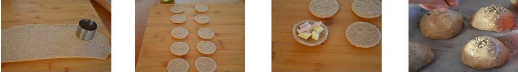 preparazione rustici pan brioche panini golosi