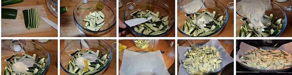 Preparazione zucchine croccanti al forno