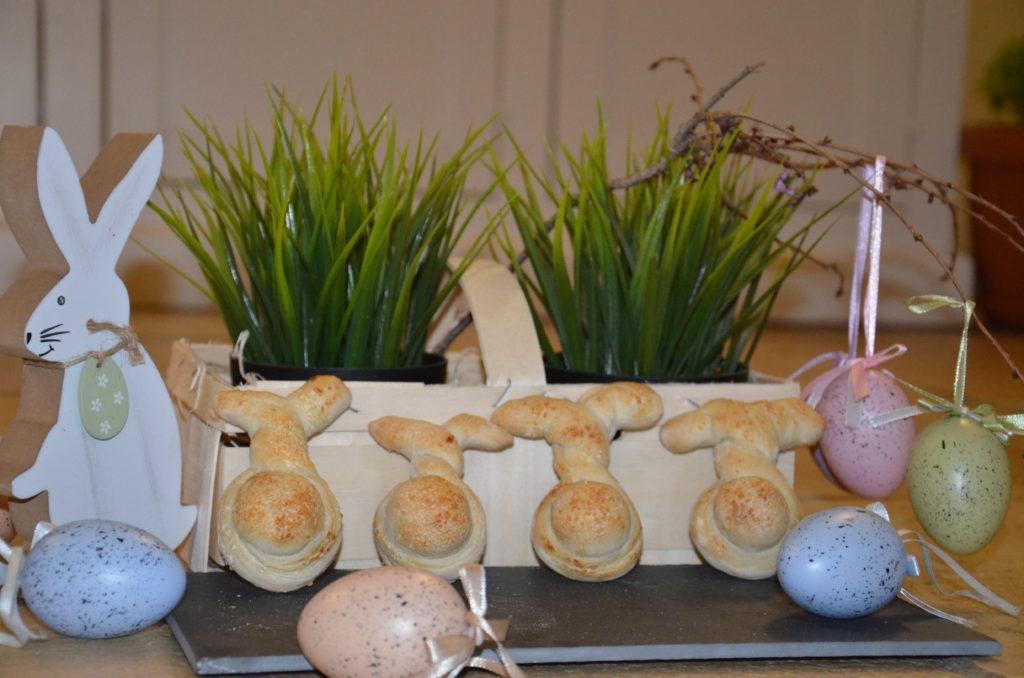 coniglietti segnaposto di pane