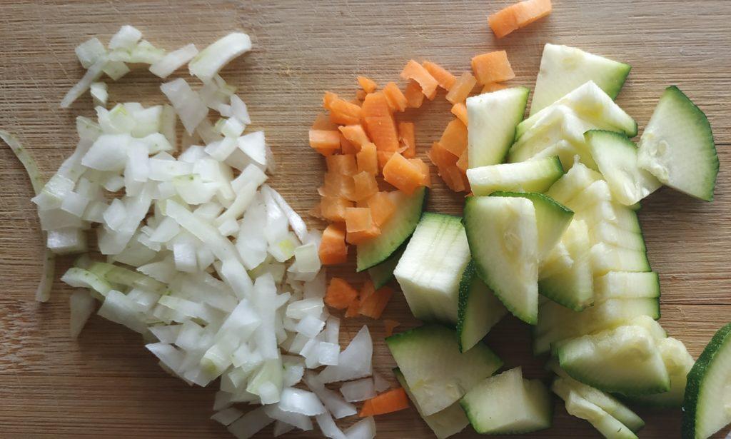 risotto speck e zucchine
