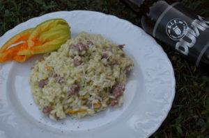 Risotto zucchine e salsiccia